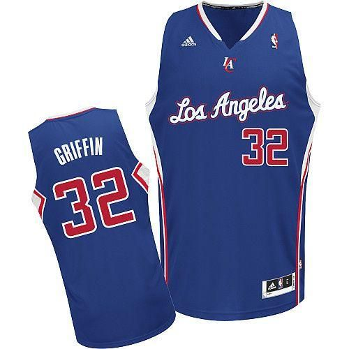 los angeles clippers  new revolution 30 clippers 32 blake griffin blue embroidered nba jersey