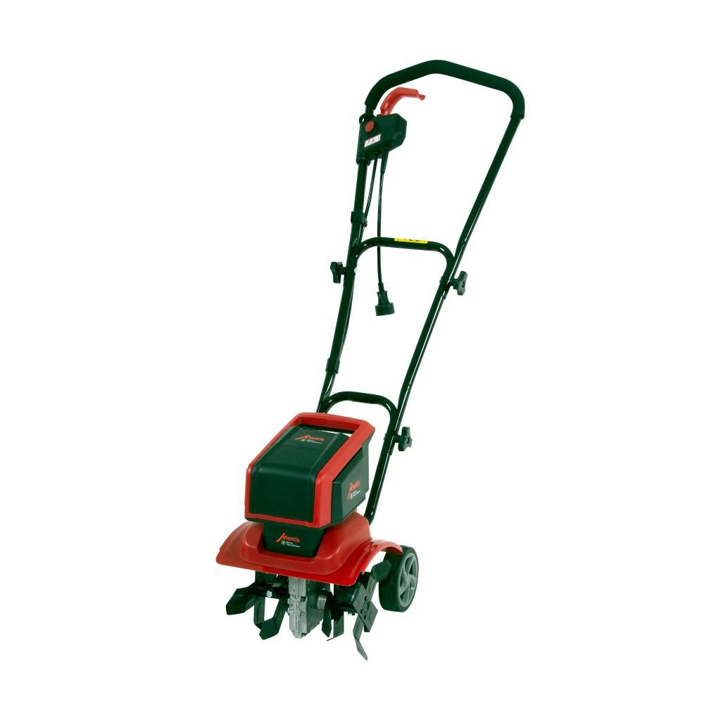 Mantis 12 In 9 Amp Corded Electric Tiller Cultivator With 3 Position Wheels 3550 The Home Depot In 2020 Electric Tiller Tiller Electricity
