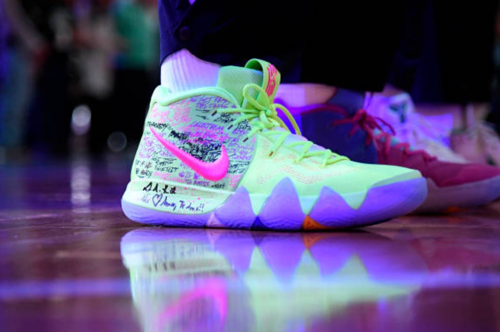huge discount b82b7 a01bc  KyrieIrving debut Kyrie 4 vs Utah Jazz