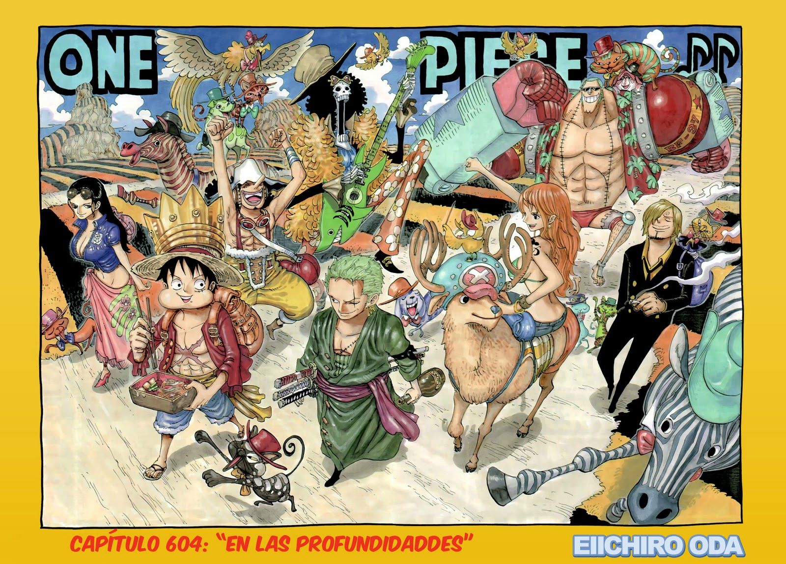 Straw Hats With The Musicians Of Bremen One Piece Photos One Piece Manga One Piece Chapter
