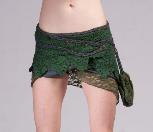pixie skirt STEAMPUNK SKIRT GEKKO skirt elf fairy skirt festival clothing