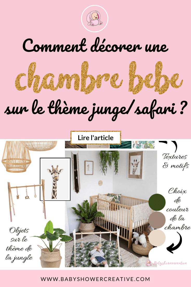 Chambre bébé jungle  Chambre bébé, Thème chambre bébé, Chambre