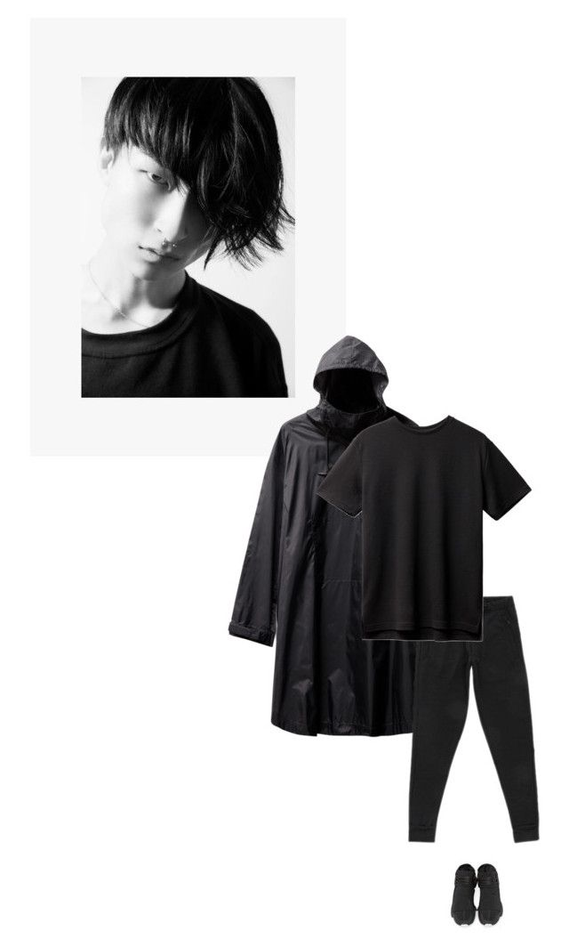 """/"" by darkwood ❤ liked on Polyvore featuring Yohji Yamamoto, Y-3, men's fashion and menswear"