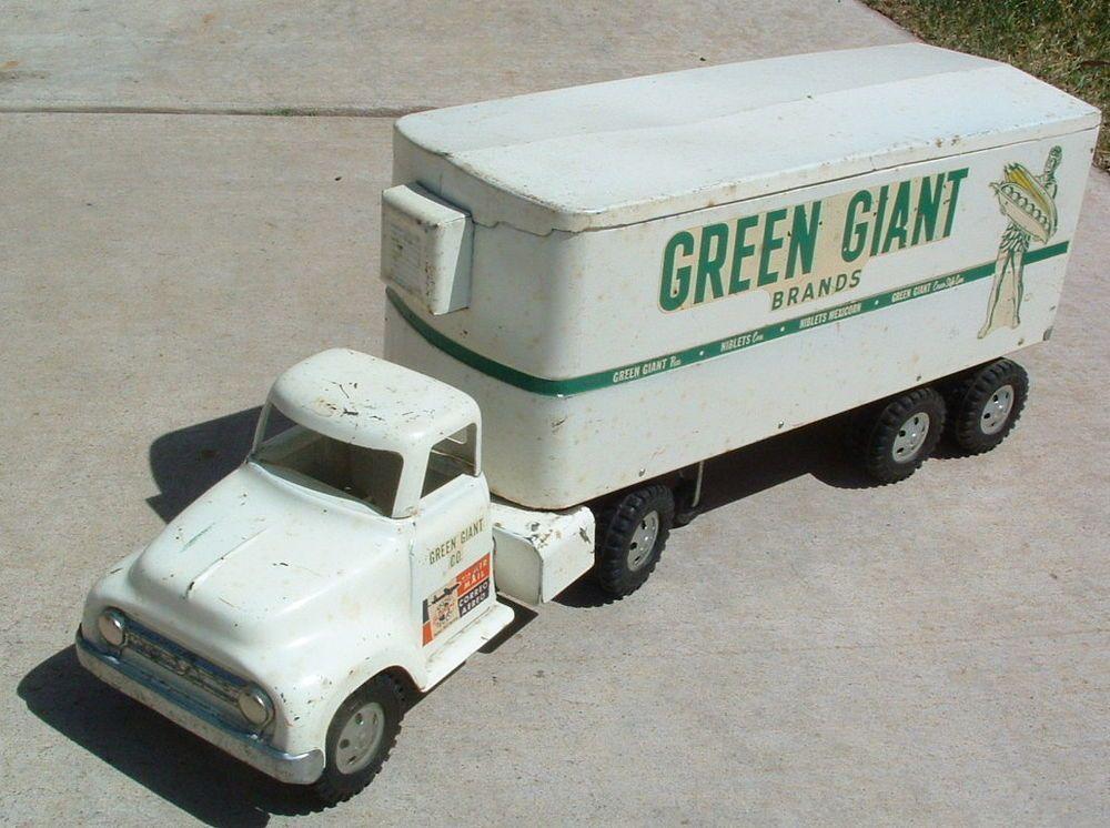 toy stamp  u0026 1950s tonka jolly green giant semi truck  u0026 trailer set  2