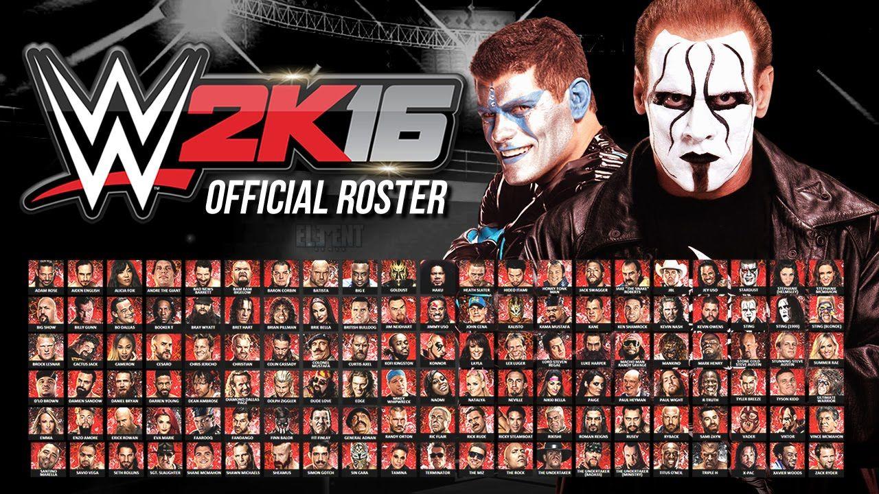 Wwe 2k16 Official Roster All 126 Superstars Divas Free Pc Games Download Free Pc Games Pc Games Download