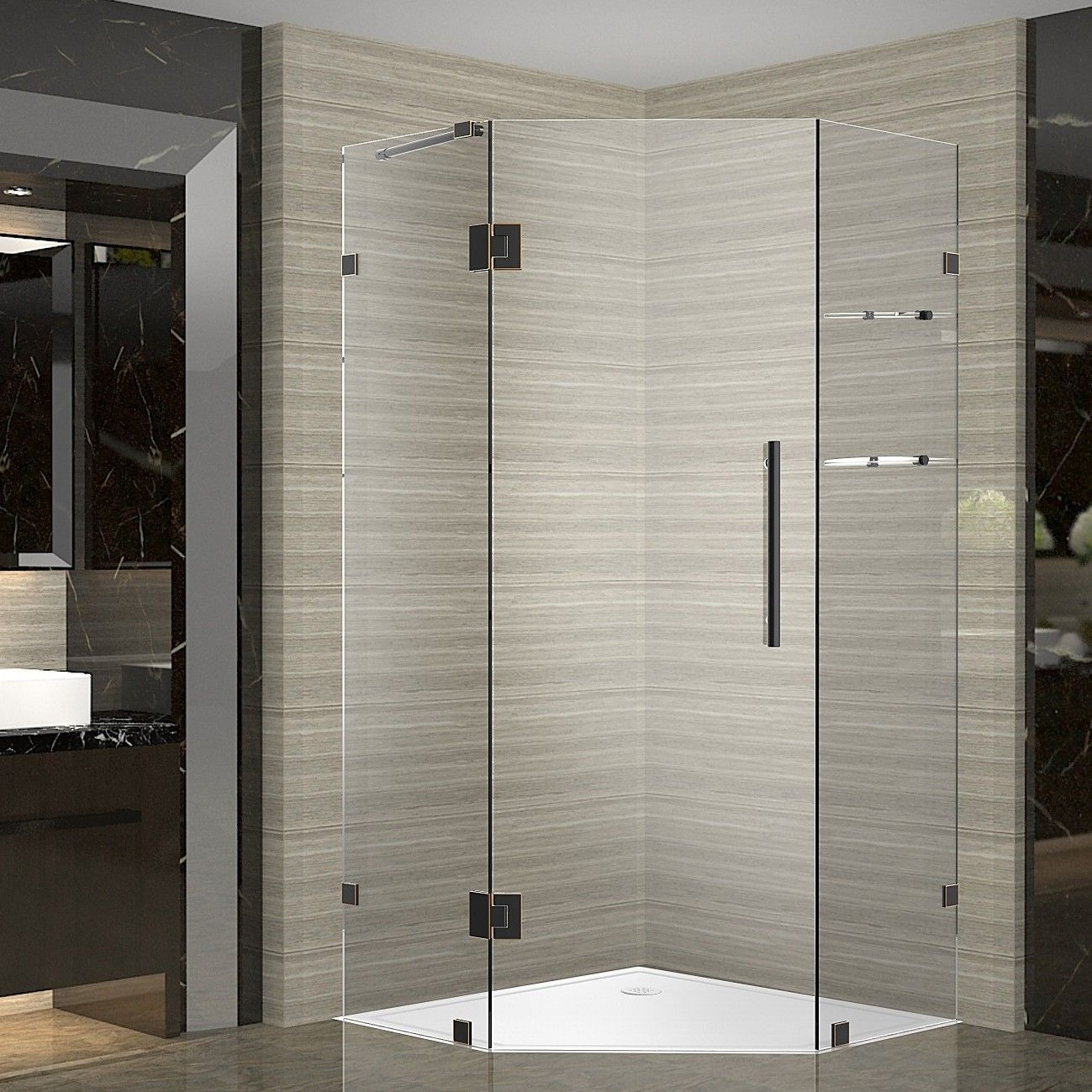 Neoscape Gs 38 X 72 Neo Angle Hinged Shower Enclosure Neo