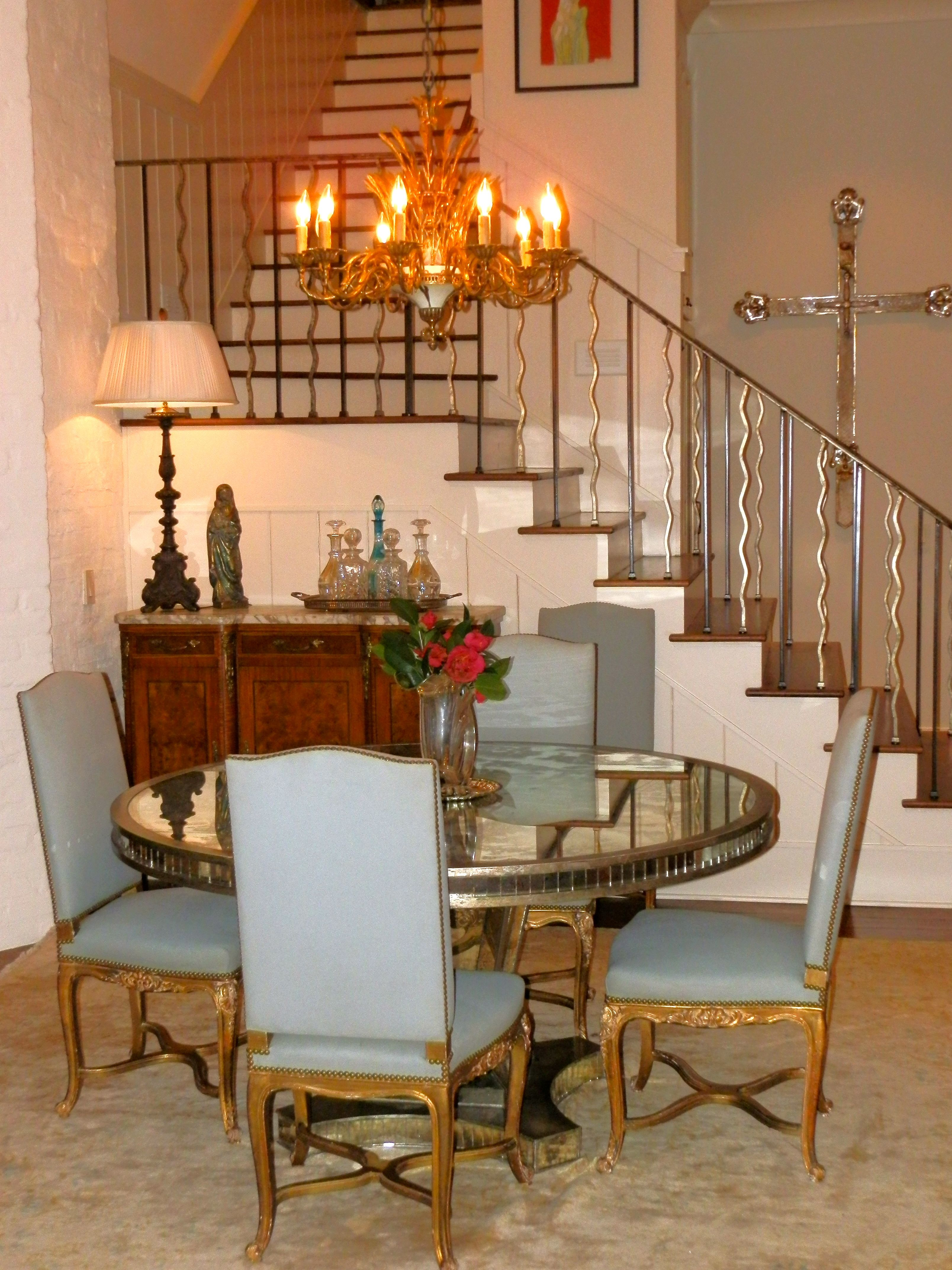 Looove This Antique Mirrored Dining Table By Niermann Weeks The M Nicholas Collection Dining Table Dining Table