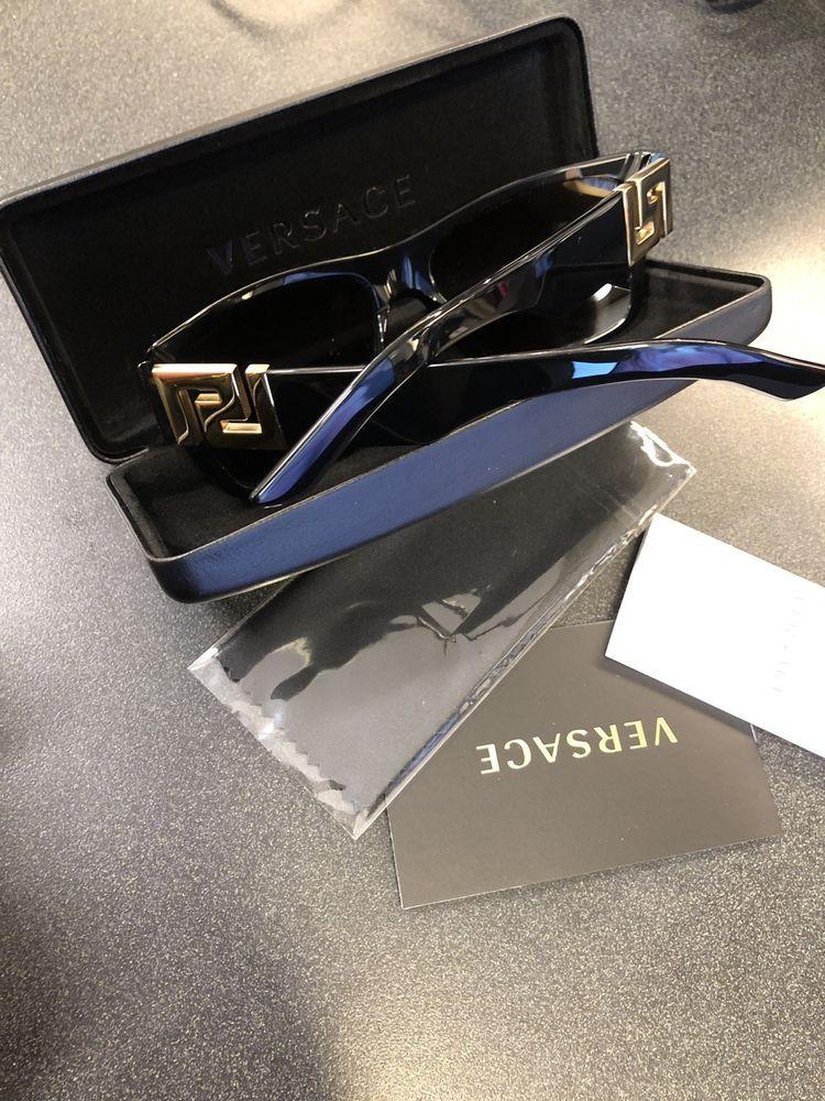 d9bea98a6e3 VERSACE Sunglasses VE4296 GB1 81 POLARIZED Gloss Black  Gray AUTHENTIC  MOD.4296