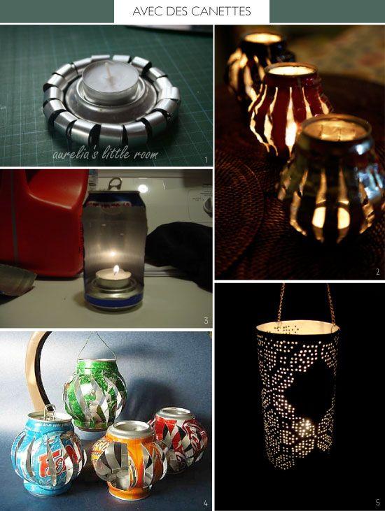 15 fantastique id es pour recycler les canettes de soda trucs et astuces bricolage pinterest. Black Bedroom Furniture Sets. Home Design Ideas