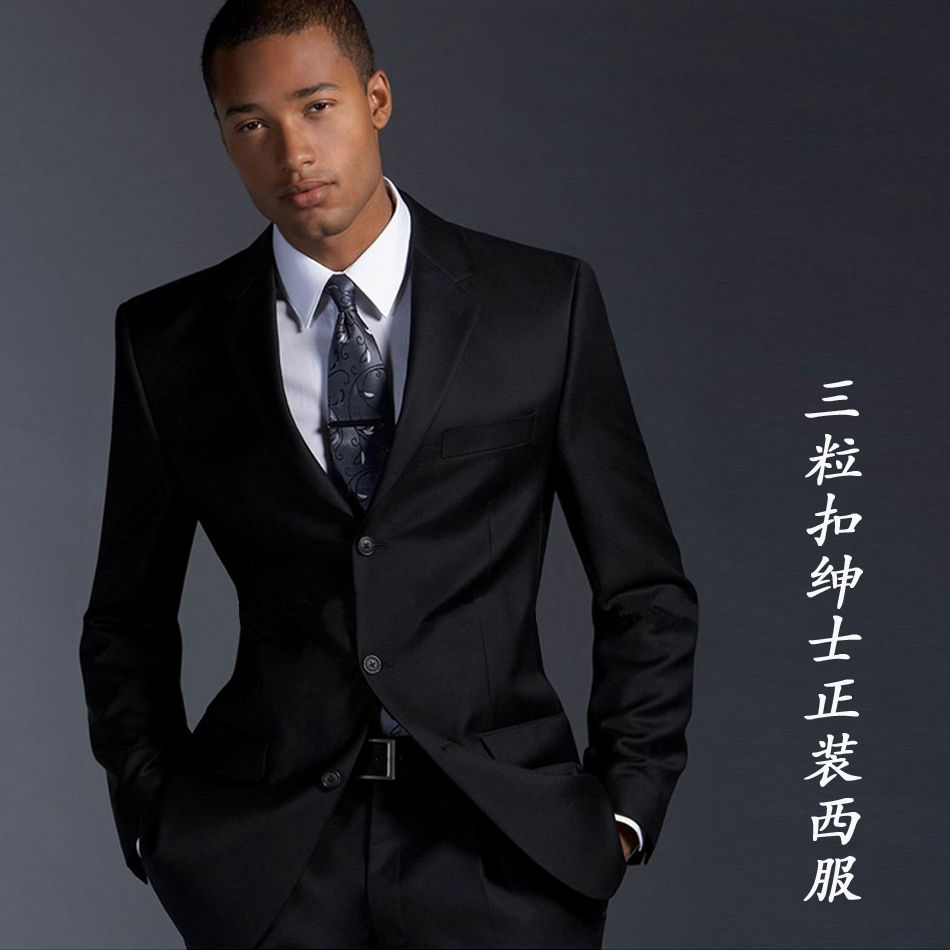 black mens suits - Google Search | Wardrobe | Pinterest | Mens suits