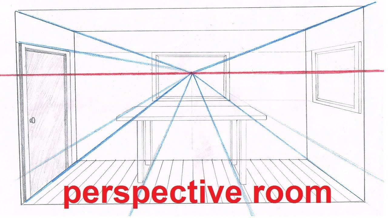 Linear Perspective Drawing Lesson 5 6 Drawing A Room In Perspective Tu Linear Perspective Drawing Perspective Drawing Perspective Drawing Lessons