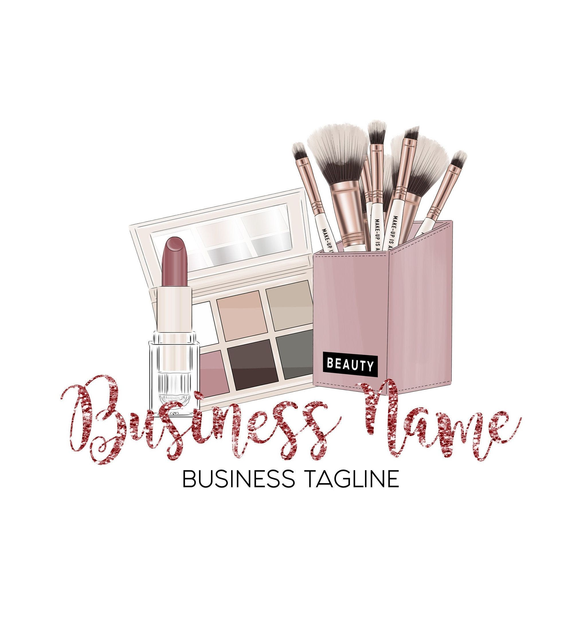 Beauty Logo Makeup Artist Logo Cosmetic Logo Design Salon Etsy Makeup Artist Logo Cosmetic Logo Makeup Logo