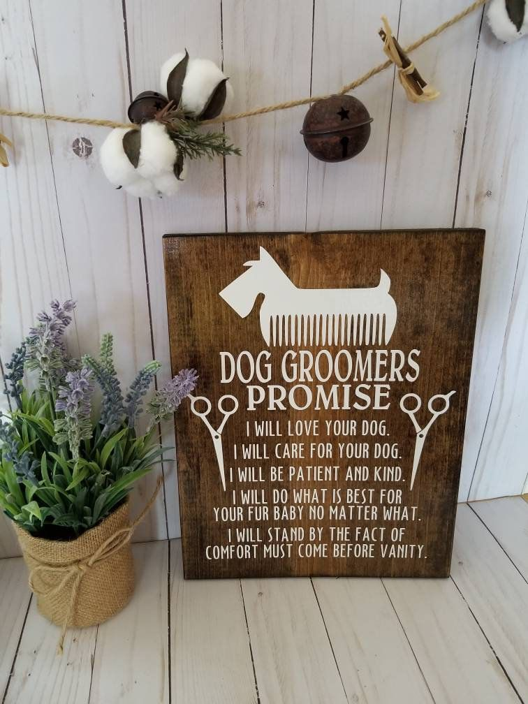 Dog groomer gift gift for dog groomer dog sign dog care