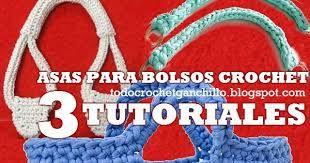 Resultado de imagen para asas para bolsos tejidos a crochet