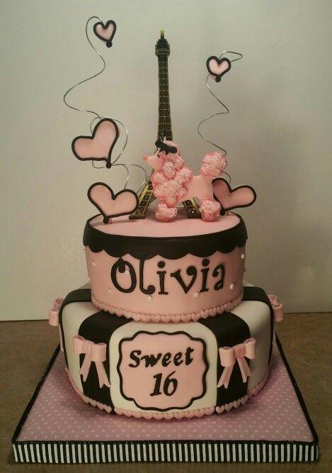Sweet  Paris Themed Birthday Cake Creative Confections By - Birthday cake paris