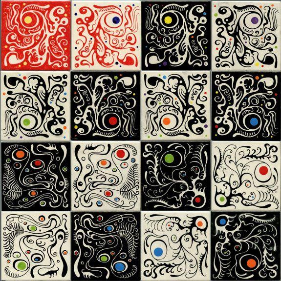 Philip Newsom Mystery Forms Tile Art Ceramic Tile Art Glazed Ceramic Tile