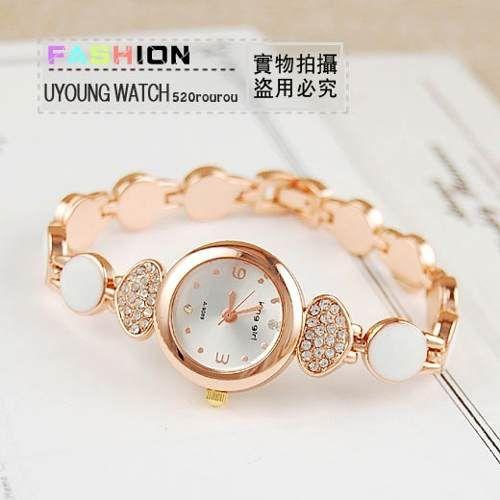 af81cad13ef Relógio Bracelete Feminino Banhado A Ouro