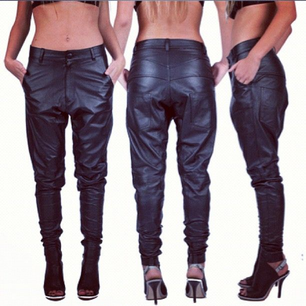 HOLY FUCK i need these. Want so hard.  1winston wolfe | Boyfriends for girlfriends. A relaxed fit leather pant.