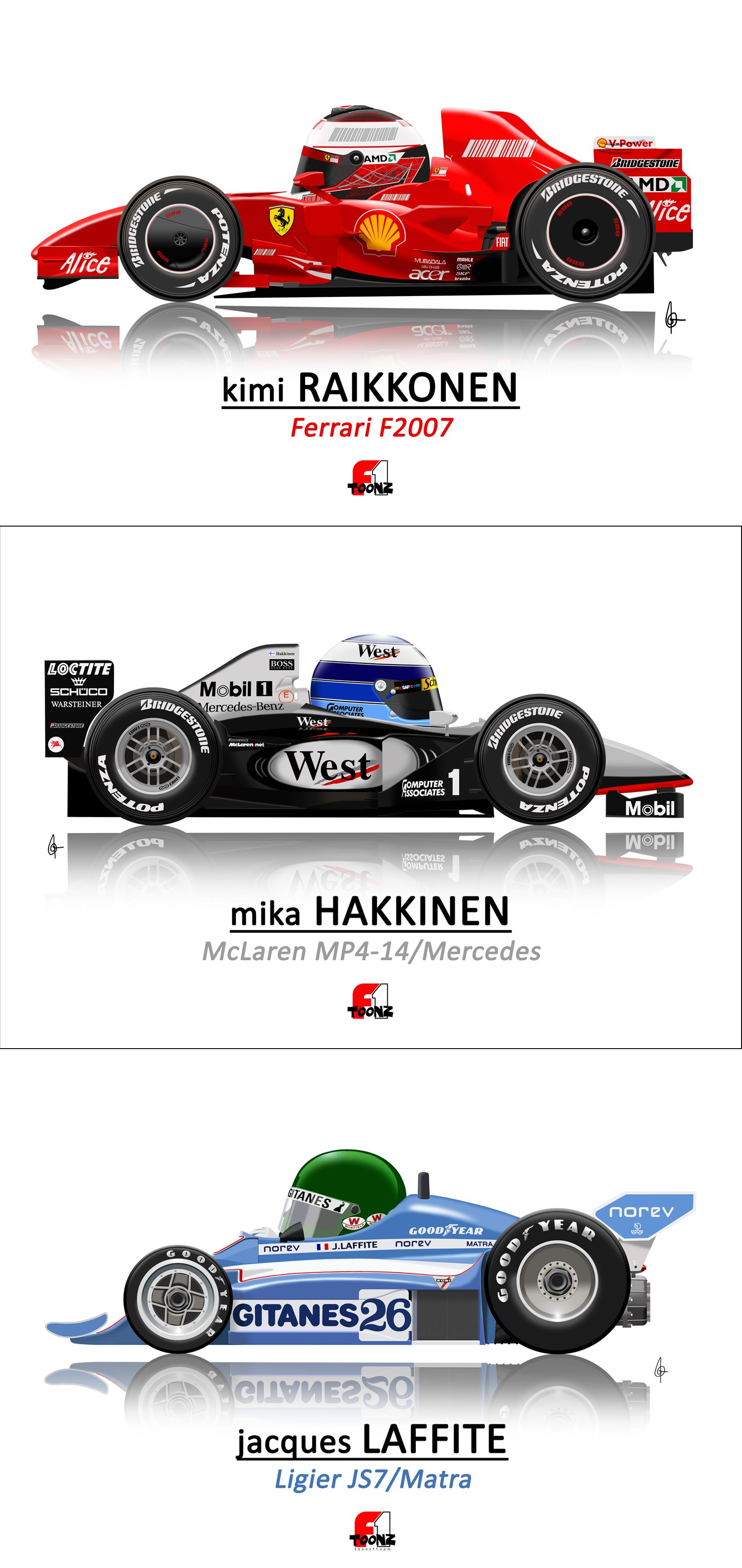 Pin By Some Guy On F 1 Cartoons Classic Racing Cars Formula 1