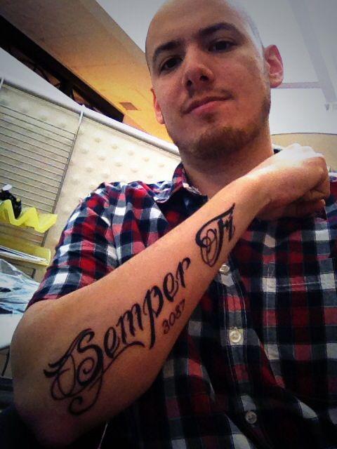 Semper fi tattoo Marine Corps