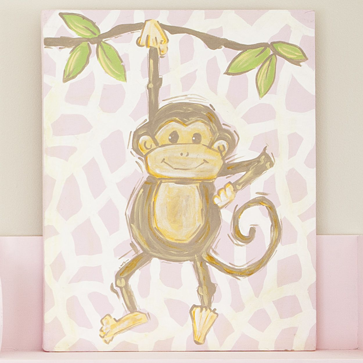 Pink Safari Monkey #carouseldesigns | baby | Pinterest | Carousel ...