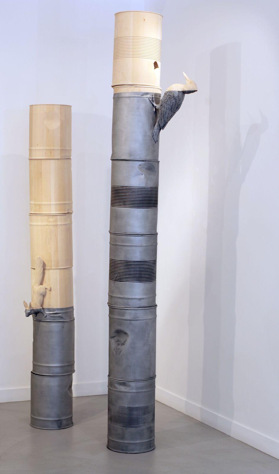 "BOSTLI ""rootless"" lindenwood, acrylic  270x57x27 cm 2015"