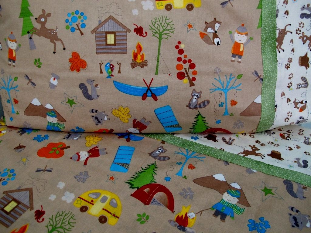 Baby bed camping - Forest Animals Nursery Toddler Bedding Camping Crib Sheet Set Boy Nursery Fox Trails Last One