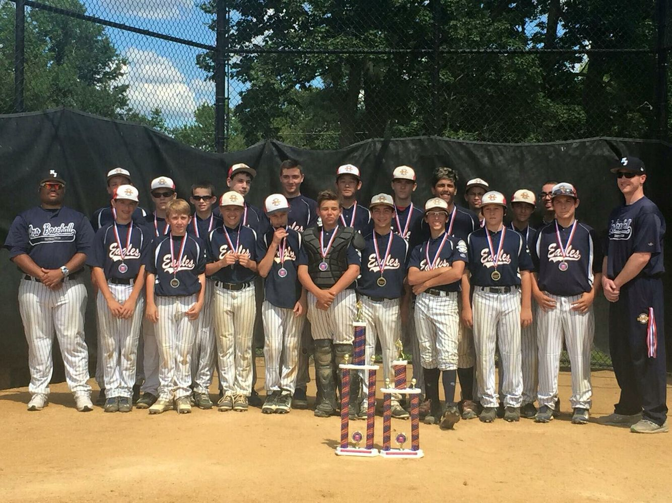 The Pbi 13u Eagle Red And Blue Teams Were The Two Finalists In The 13u Club Division Of The Maywood Firecracker Tournament Team Blue Club Baseball Red And Blue