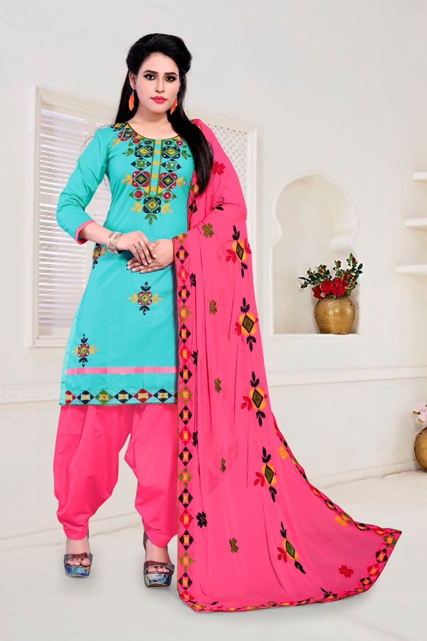 ec794fffb2 patiyala heavy duppata-Punjabi Dress Materials-wholesaleprise-at-rate-surat