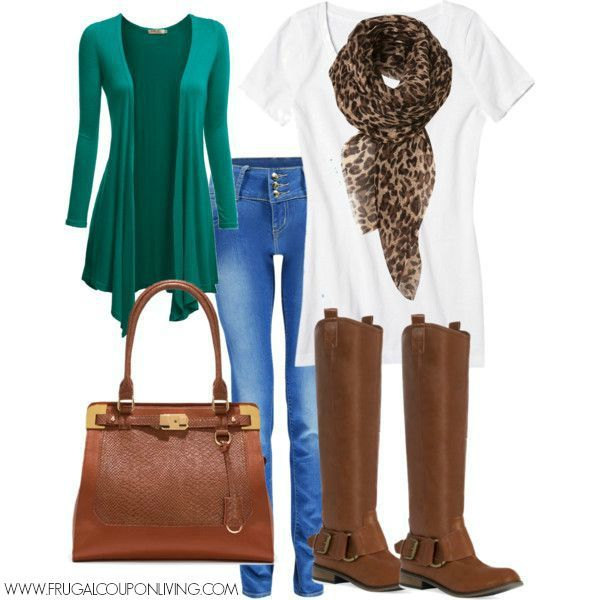 Frugal Fashion Friday – Emerald and Cognac Fall Outfit #fashion #fashonfriday #frugal