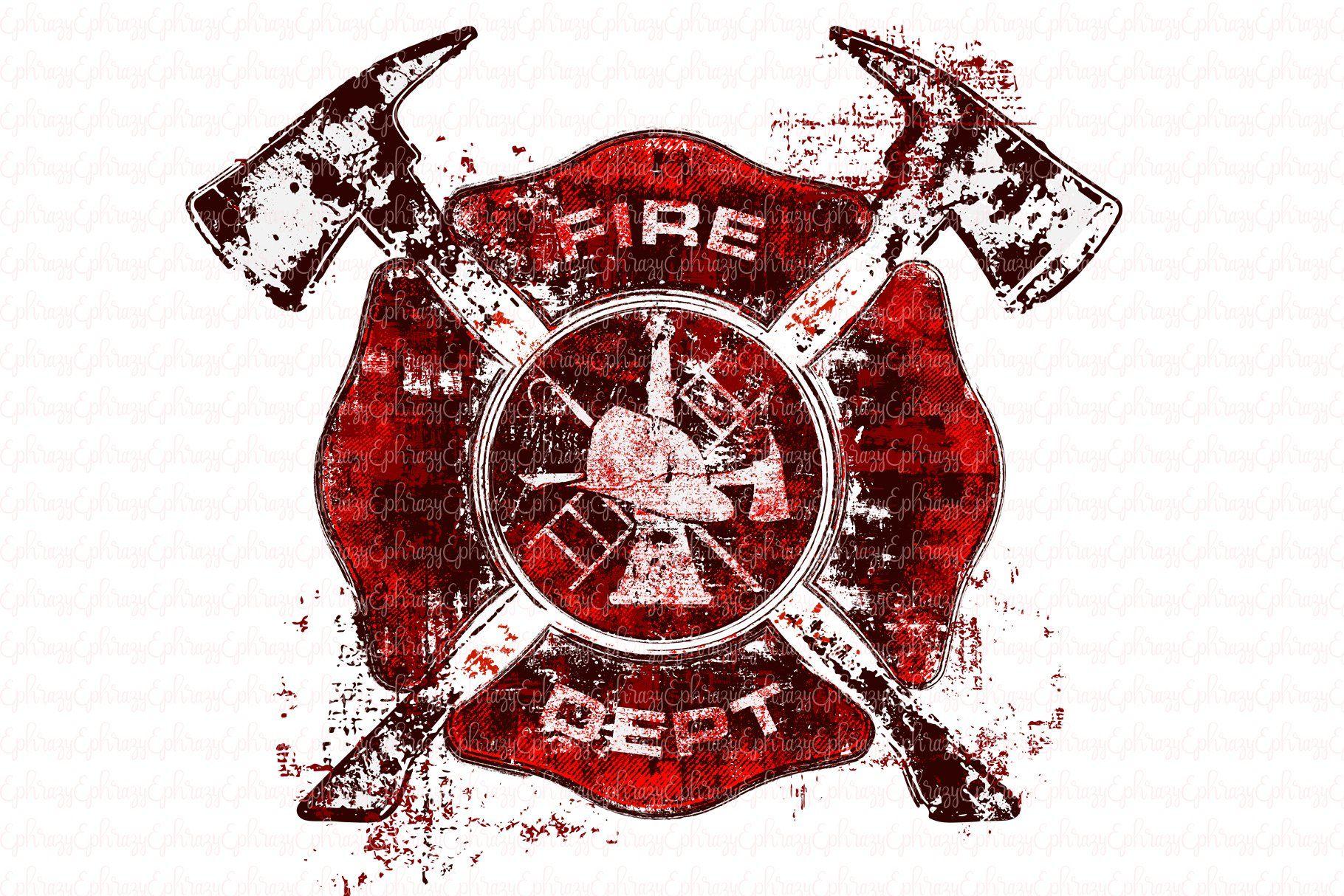 Firefighter.SVG.Cricut.Clipart by EphrazyDesign on