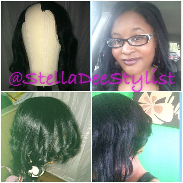 This Upart wig was brought to you by .... Me!!  #wigs #wigmaking #portfolio