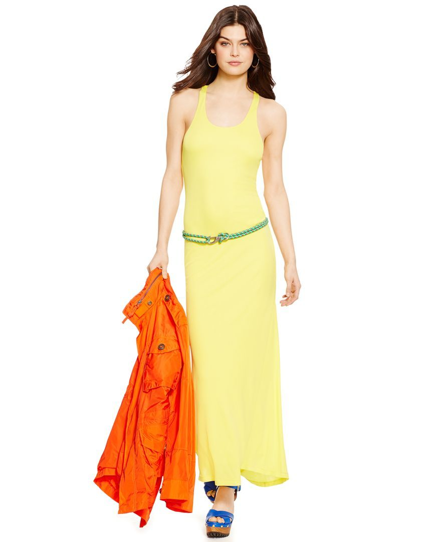 Polo Ralph Lauren Racerback Maxi Dress Dresses Women Macy S Racerback Maxi Dress Summer Dresses For Women Maxi Dress [ 1080 x 884 Pixel ]