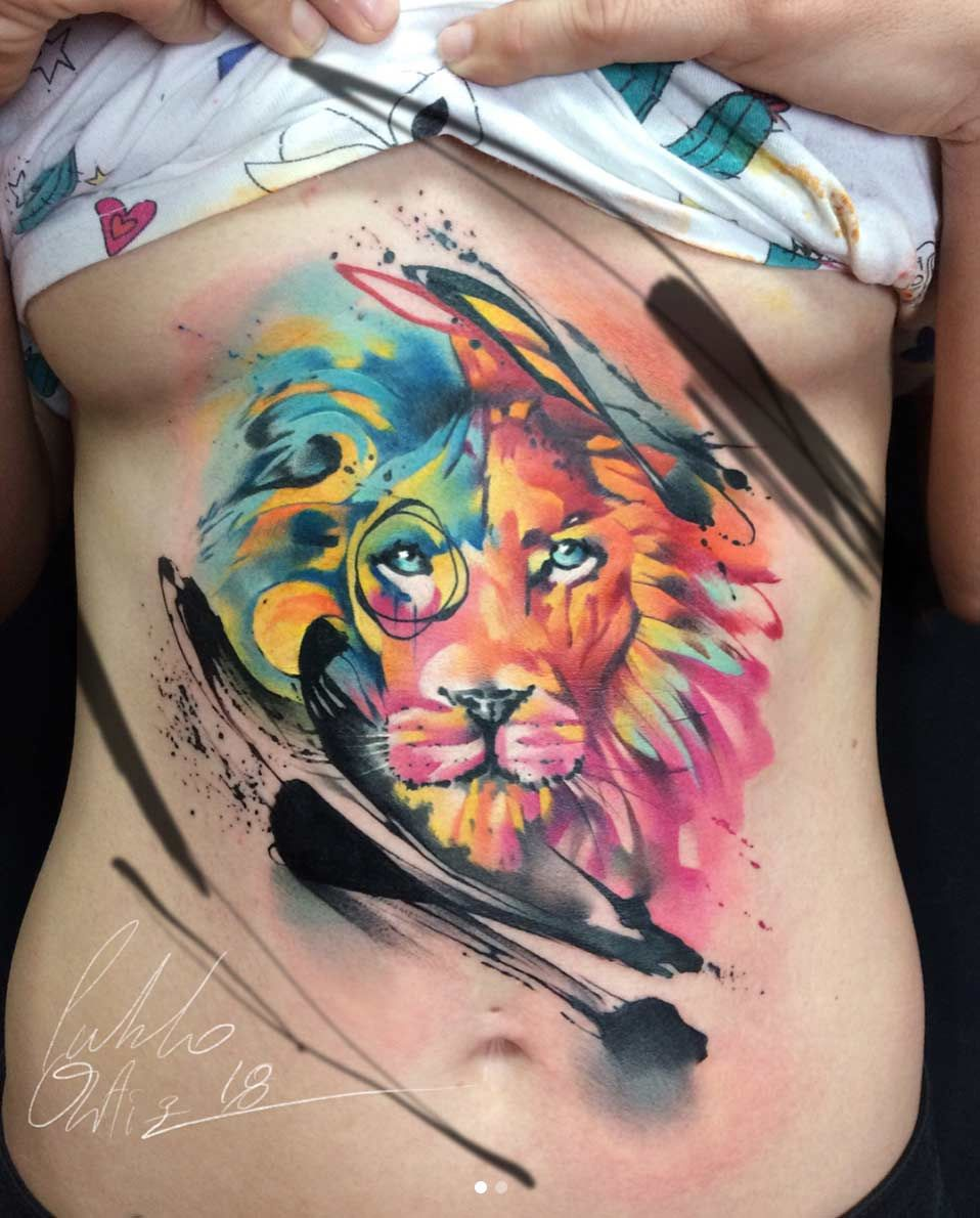 78d440742d720 90 Tiger and Lion Tattoos That Define Perfection | Tattoos | Lion ...