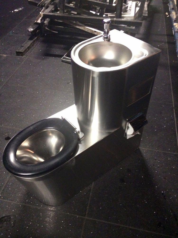 Modern Toilet Sink Combo Stainless Steel Restaurant