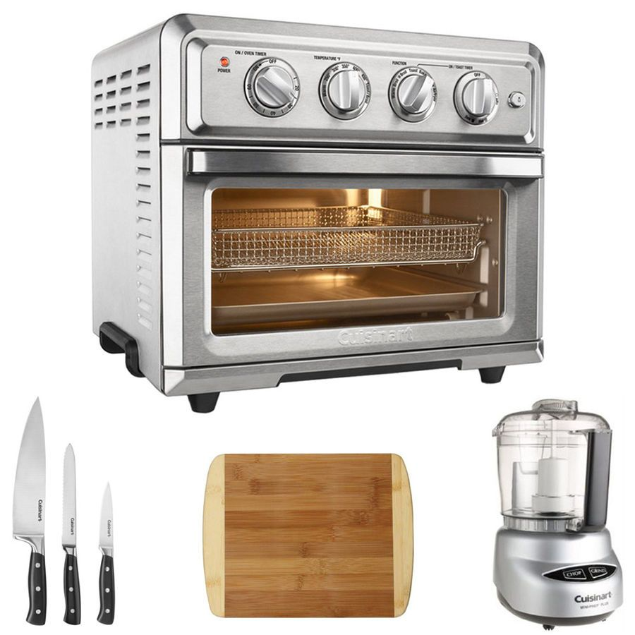 Cuisinart TOA Air Fryer Toaster Oven w Ultimate Kitchen Bundle
