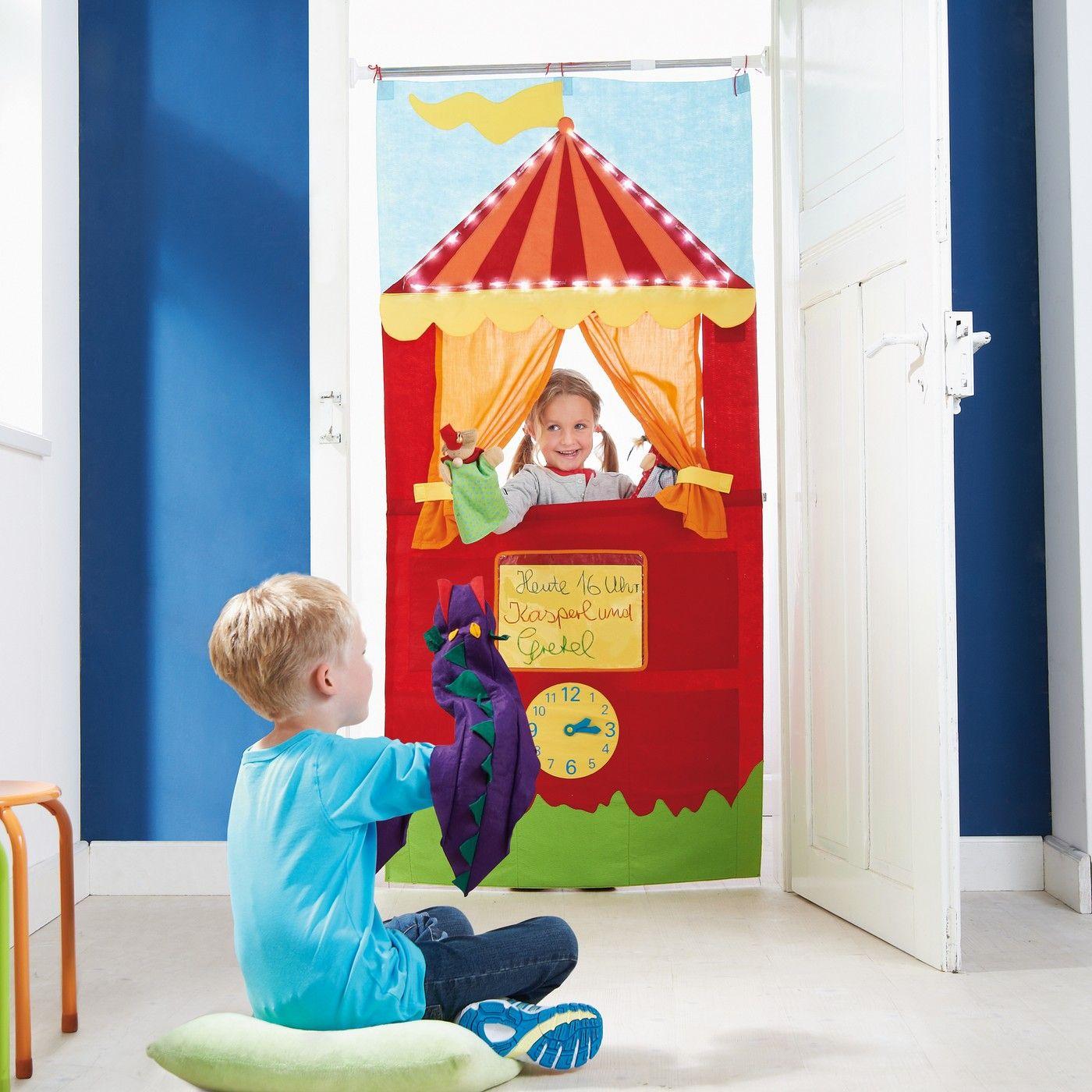 t rtheater mit licht n hen f r kids pinterest puppentheater kasperletheater und theater. Black Bedroom Furniture Sets. Home Design Ideas