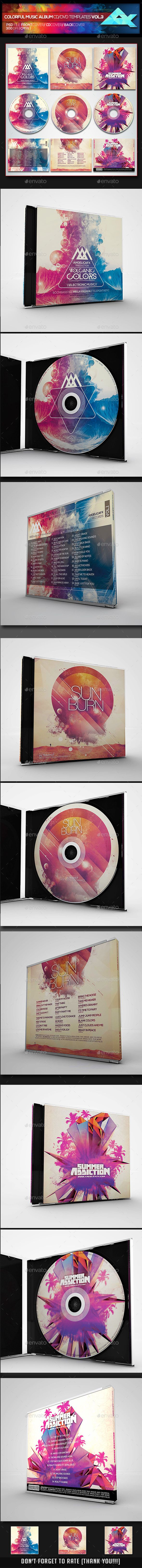colorful cd dvd album covers bundle cd dvd cover templates