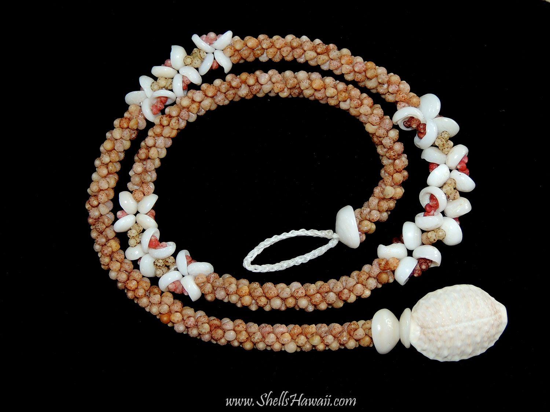 #Two strand #twisted of #Kahelelani combined with #Hawaiian #Puka shells #lei.