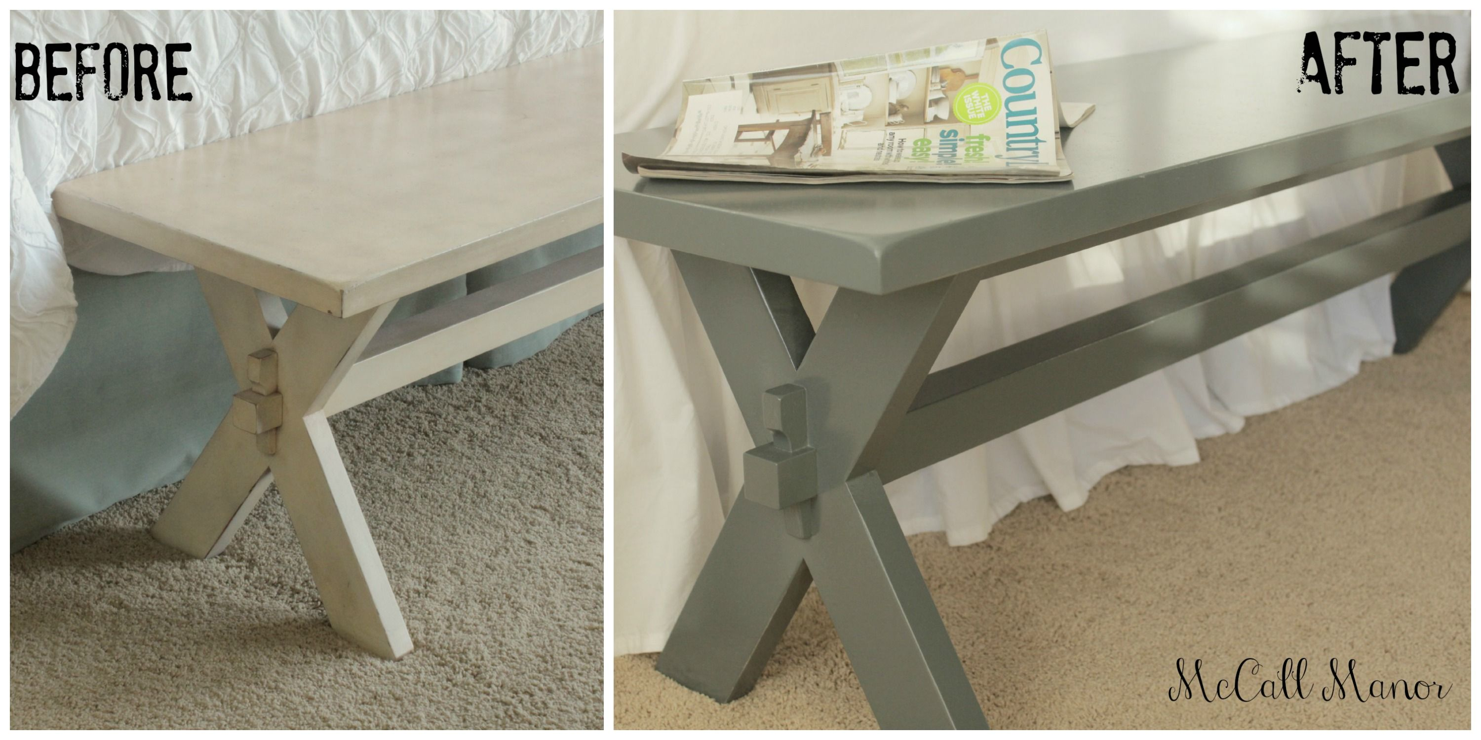 Bench Makeover At Mccall Manor Using Amy Howard At Home