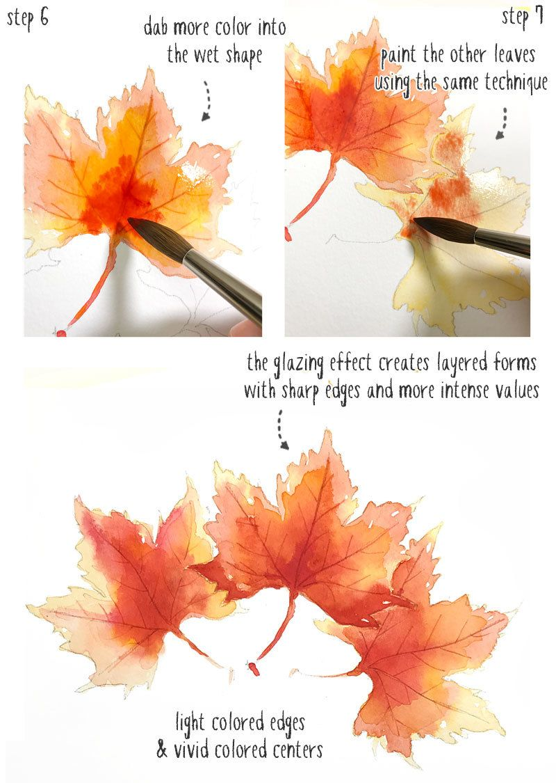 Easy Watercolor Fall Leaves Part2 Watercolor Autumn Leaves Fall