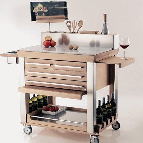 Millenium Deluxe Cart By Legnoart Kitchen