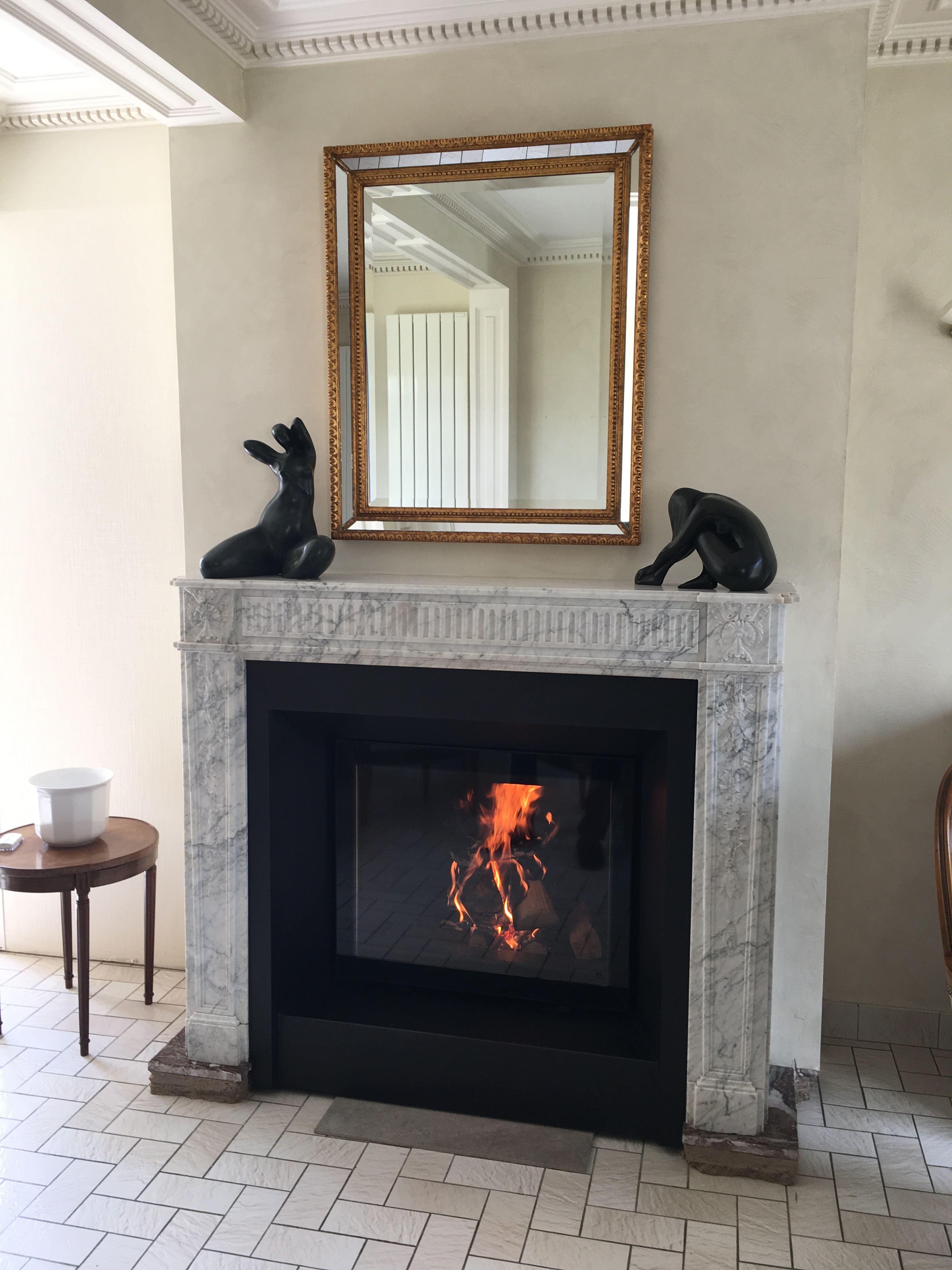 Petit Insert Pour Cheminée Ancienne insert au bois, parfaitement adapté à cette cheminée
