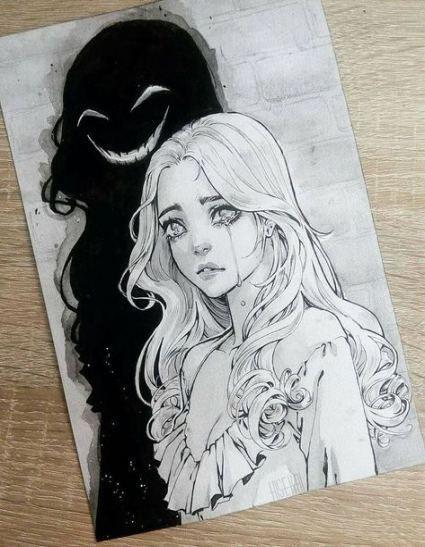 61+ Trendy Drawing Ideas Anime Sad #drawing #Kunstzeichnungen   - Zeichnungen - ...