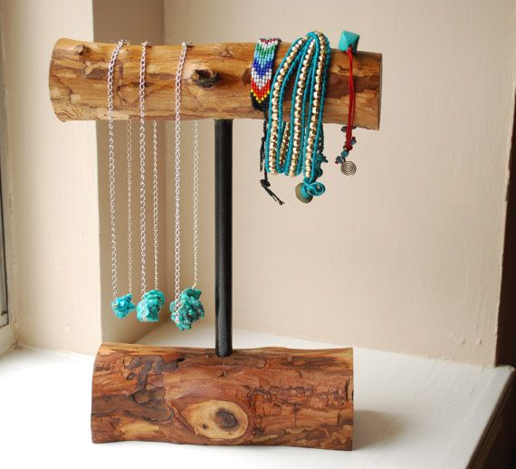 Wooden Necklace/Bracelet Holder Medium Display by NatureBound, $31.00