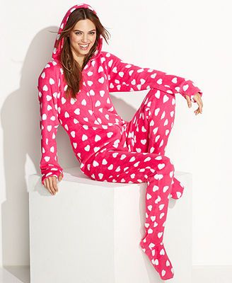530b609dd0b Jenni by Jennifer Moore Supersoft Hooded Footed Pajamas