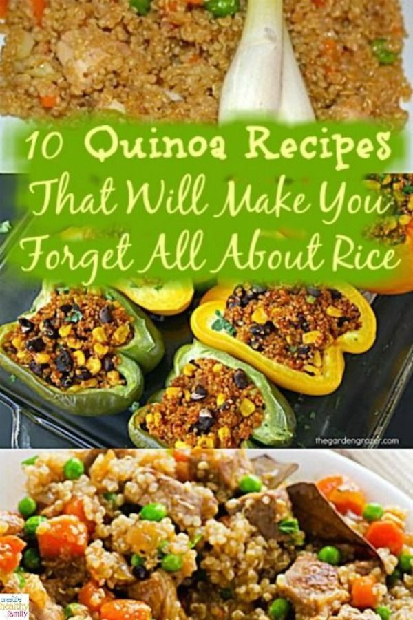 Meals 10 Quinoa Recipes That Will Make You Forget All About Rice. Healthy, homemade meals your enti