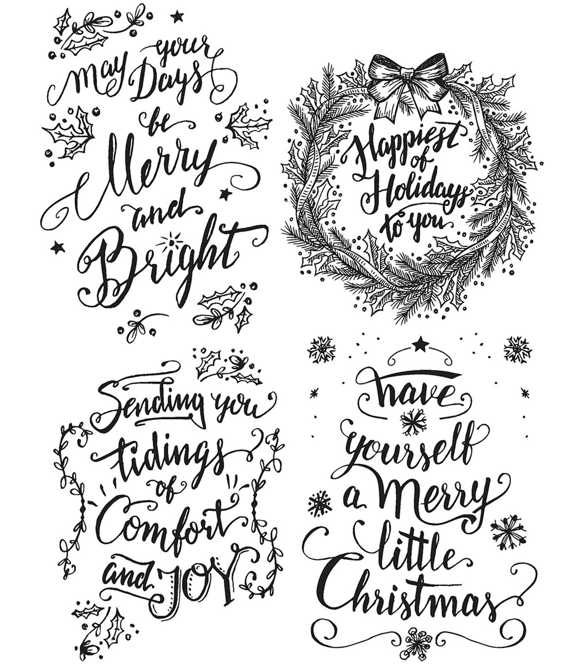 Stampers Anonymous CMS286 Tim Holtz Cling Stamps 7X8.5-Doodle Greetings #2,