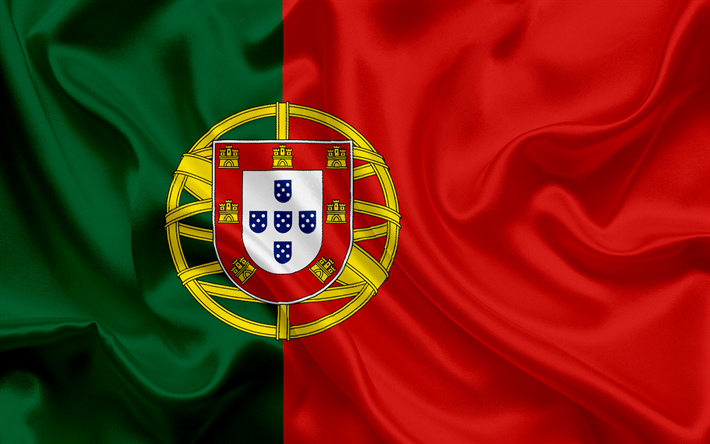Download Wallpapers Portuguese Flag Europe Portugal Silk Flag Of Portugal Besthqwallpapers Com Portuguese Flag Portugal Flag Portugal