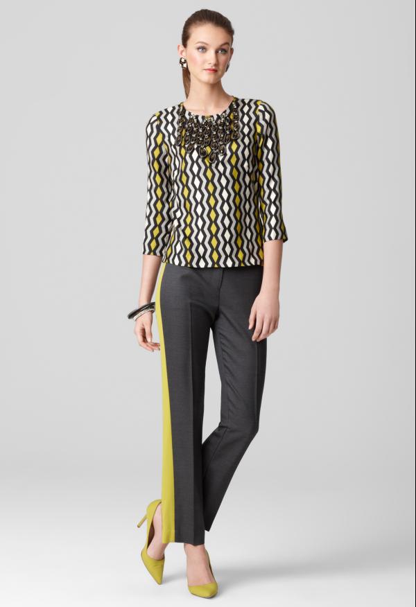 b2322f32a KIERA TUXEDO PANT by Milly   tuxedo pants   yellow stripes   business casual